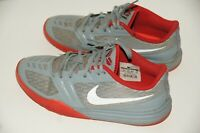 Nike Kobe Mentality Dove Gray Red Basketball Shoes Boys Size 6Y 705387-007