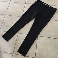 Tory Burch Black Stretch Ponte Knit Legging Ankle Pant Medium trousers