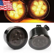 2x Front Grille LED Turning Signals Lights for Jeep Wrangler JK 2007-2015 FLY US