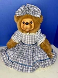 "Applause Robert Raikes 20"" BECKY THATCHER Wood & Plush Teddy Bear, A/O EX w/TAG"