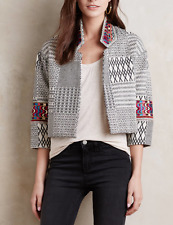 $345 ANTHROPOLOGIE CYNTHIA VINCENT EMBROIDERED ZELLIGE LINED JACKET Sz XS (P)