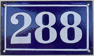 Big old French house number 288 door gate plate plaque enamel steel metal sign