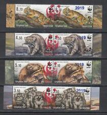 Tajikistan 2019 MNH** Mi.850-53 WWF Overprint Set Manul