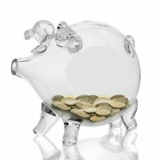 Glass Handmade Funky Piggy Bank Money Boxes - 2 sizes