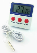 Fridge and Freezer Digital LCD Thermometer Alarm Restaurant Refrigerator Chiller