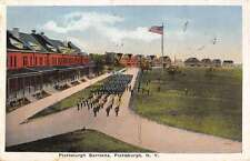 Plattsburgh New York Barracks Military Birdseye View Antique Postcard K26613