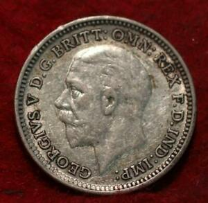 1926 Great Britain 3 Pence Silver Foreign Coin