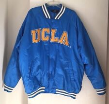 UCLA Bruins Football Quilted Down Button Up Puffer Jacket Coat Mens Size 2XL
