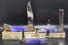 LOT OF 3 WHITETAIL CUTLERY PURPLE SMOOTH BONE Folding Pocket Knife  (2739) $61
