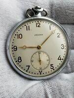 Vintage Pocket Watch USSR ISKRA MOLNIJA 1956 year 2MChZ