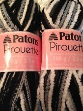 Patons Pirouette Ruffle Yarn  Lot of 2  NIGHT SKY
