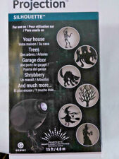 Gemmy Halloween LED Light Show Projection 6 Silhouettes ~ Outdoor Holiday Decor