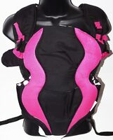 EVENFLO BREATHE SOFT PADDED BABY CARRIER - MARIANNA BLACK/PINK USED