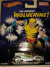 HOT WHEELS  MARVEL THE DREADED WOLVERINE! DOUBLE DEMON DELIVERY REAL RIDERS M/M