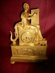 Empir Pendule (kaminuhr) Bronze feuervergoldet