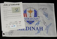 2012 RYDER CUP AUTOGRAPHED GOLF FLAG (PSA DNA) - Rory McIlroy, Sergio Garcia,