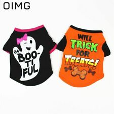 Halloween Pet Dog Clothes For Puppy Cat Vest Small Dogs Cotton Clothing T-Shirt