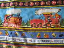 "REDUCED!!! THE LITTLE ENGINE THAT COULD Toddler/Youngster Cotton Quilt 33"" x 40"""