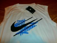 NIKE DRI-FIT RUNNING SPORTS SINGLET MUSCLE TANK JERSEY SHIRT KIT Sz M NEW Swoosh