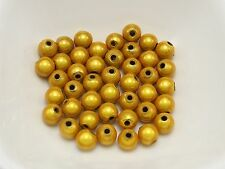 200 Gold 3D Illusion Acrylic Miracle beads 6mm Spacer Beads