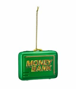 WWE MONEY IN THE BANK BRIEFCASE HOLIDAY / CHRISTMAS TREE ORNAMENT CURRENT NEW