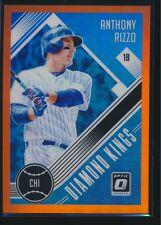 2018 Donrus Optic Orange Prizm Parallel #1 Anthony Rizzo Chicago Cubs 156/199