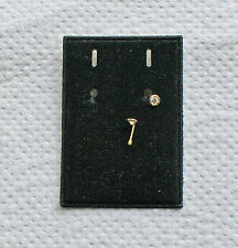 Nasenstecker (Piercing) 375/1000  Gelbgold Steinfarbe klar (Diamant)