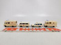 CN203-0,5# 4x Wiking H0/1:87 Krankenwagen: VW DRK + MB Johanniter etc, s.g./NEUW