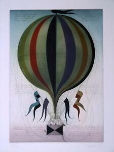 Janak, A., Fesselballon Original signiert verzeichnet top Zust. großformatig T18