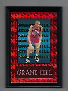 """Vintage 1990s 6.5"""" x 4.5"""" Card Plaque Grant Hill Detroit Pistons"""