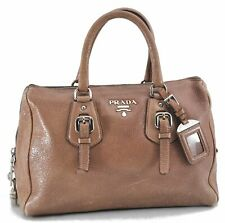 Authentic PRADA Leather Hand Bag Be