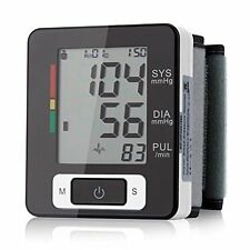 Automatic Digital Wrist Blood Pressure Monitor Heart Beat Upper LCD Counter New