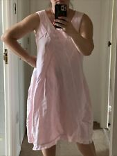 MADE IN ITALY Beautiful Pink 100% Linen Dress/Tunic Unusual Size L