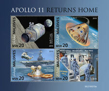 Maldives 2019 Launch Apollo 11 Armstrong Aldrin Collins Space Helicopter S/S 215