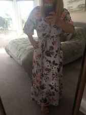 *Lilac floral French Connection midi dress Size 12*