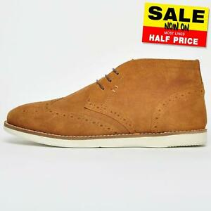 Red Tape Aldford Mens Suede leather Casual Desert Brogue Ankle Boots