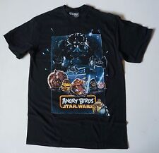 Star Wars Angry Birds shirts Mens Black Size S M L XL pigs  space dark