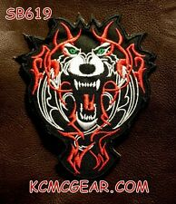 TRIBLE WOLF Small Badge for Biker Vest Jacket Motorcycle Patch