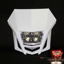 Universal Dirtbike Headlight Lamp 35W For Kawasaki Ducati Suzuki Yamaha White