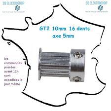Poulie aluminium GT2 10mm 16 dents axe 5mm 3d print,cnc belt timing pulley