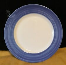 Choose 1 Present Tense Hand Painted BLUE Swirl Rim CHOP Plate From Italy 12 1/4""