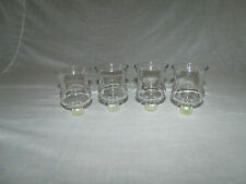 (Set of 4) SHORT THICK SMOOTH CLEAR GLASS HOME INTERIOR VOTIVE CUP CANDLEHOLDERS