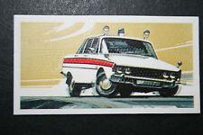 ROVER P6    Police Car   1970's  Vintage Card  VGC