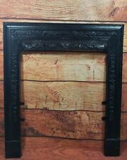 Antique Cast Iron Fireplace Frame Surround Floral Design Victorian Circa 1900