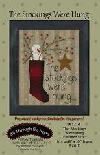Stockings Were Hung by Bonnie Sullivan - Snowman Stitchery Wool Applique Pattern