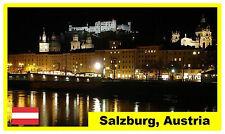 SALZBURG AT NIGHT, AUSTRIA - SOUVENIR  FRIDGE MAGNET -  BRAND NEW - GIFT / XMAS
