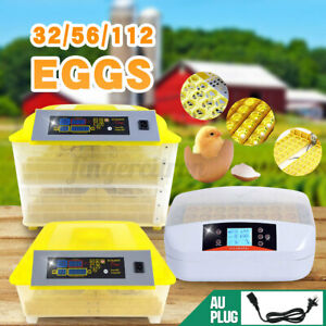 Eggs Incubator Fully Automatic Digital LED Hatch Turning Chicken Duck Poultry AU