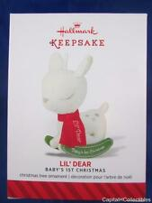 2014 Hallmark Keepsake Ornament Lil' Dear Baby's First 1st Christmas Rocking NIB