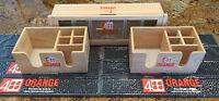 4 ORANGE Bar Set Spill Mat Bar Caddy Condiment Tray, Napkin Tray-11 piece set