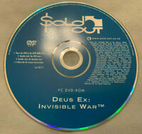 Deus Ex Invisible War PC Computer Sold Out Software DVD Version (Disc Only) RARE